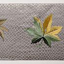 霞に紅葉の刺繍名古屋帯 前柄