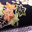 流水に梅紅葉の刺繍名古屋帯 質感・風合