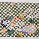 行儀小紋に四季の花文様名古屋帯 前柄