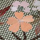 行儀小紋に桜・楓の刺繍名古屋帯 質感・風合