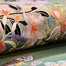 秋の小花と水車の刺繍袋帯 質感・風合