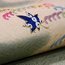 小波紋と楓の刺繍開き名古屋帯 質感・風合