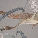 ススキ野に雁の刺繍名古屋帯 質感・風合