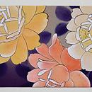 菊とバラの染め名古屋帯 前柄