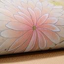 菊とバラの染め名古屋帯 質感・風合