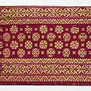 インドネシア 絣に紋織りの名古屋帯 前柄