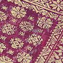 インドネシア 絣に紋織りの名古屋帯 質感・風合