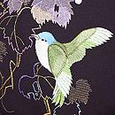 山葡萄に青い鳥の刺繍名古屋帯 質感・風合