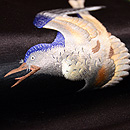 月に雁の刺繍名古屋帯 質感・風合