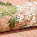 ヤツデの刺繍名古屋帯 質感・風合