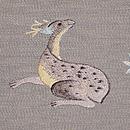 落ち葉見る鹿の名古屋帯 質感・風合
