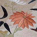 雪輪紋に菊と笹刺繍帯  質感・風合