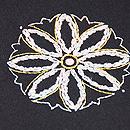 黒地雪の結晶刺繍名古屋帯 質感・風合