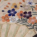 麻の葉縞に梅、桜の名古屋帯 帯裏