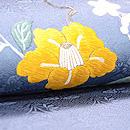 青地花筏の刺繍名古屋帯 質感・風合