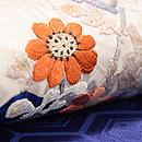 折れ梅に菊の刺繍名古屋帯 質感・風合