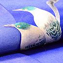 猫柳にオナガ刺繍名古屋帯 質感・風合