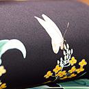 すがれ菜の花の黒塩瀬名古屋帯 質感・風合