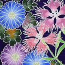 菊に撫子の夏名古屋帯 質感・風合