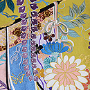 四季の花の刺繍綴れ袋帯 質感・風合