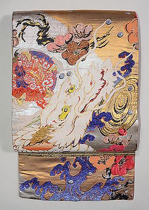 龍村平蔵作「寶(たから)の海錦」丸帯