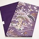 紫地江戸裂絽名古屋帯 帯裏