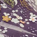 紫地江戸裂絽名古屋帯 質感・風合