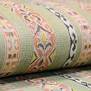 若草色縞織紗開き名古屋帯 質感・風合