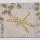 萩の刺繍水衣名古屋帯 前柄