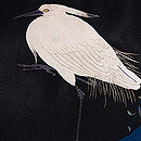 柳にとまる白鷺の図刺繍絽名古屋帯 質感・風合