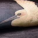 波に白鷺の図刺繍紗名古屋帯 質感・風合