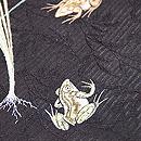 野蒜と蛙の図夏帯 質感・風合