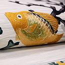 サンゴに魚夏の名古屋帯 質感・風合