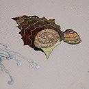 波と貝の刺繍名古屋帯 質感・風合
