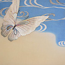 蝶ファミリーの刺繍夏袋帯 前柄