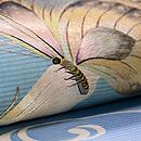 蝶ファミリーの刺繍夏袋帯 質感・風合