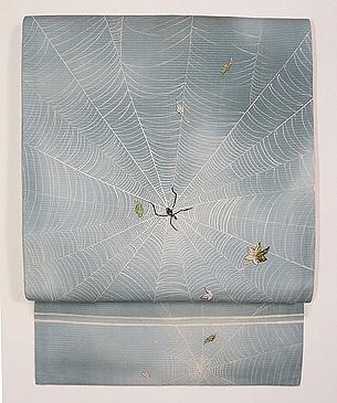 クモの夏名古屋帯