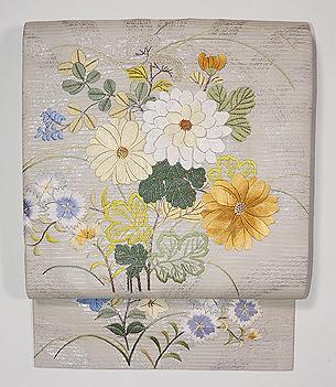 菊文様の袋帯