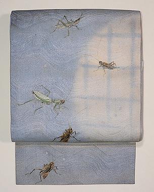 虫尽くし刺繍の名古屋帯
