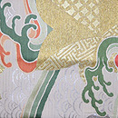 青海波、波頭に七宝楓文様夏袋帯 前柄
