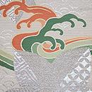 青海波、波頭に七宝楓文様夏袋帯 質感・風合