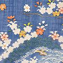 麻地江戸裂松の木に桜の名古屋帯 質感・風合