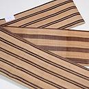 芭蕉布双子縞の半幅帯 帯裏