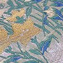 水車と野の花文様織り名古屋帯 質感・風合