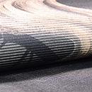 蛇籠と流水絽名古屋帯 前柄(左巻き)