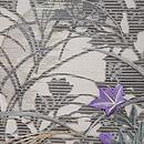 月に秋草刺繍開き名古屋帯 質感・風合