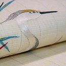 白地白鷺の刺繍名古屋帯 質感・風合