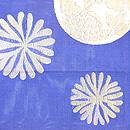 藍地海松に双魚紋の袋帯 前柄