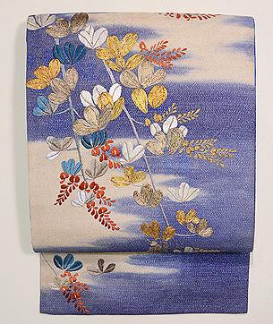萩文様刺繍名古屋帯