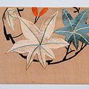 楓丸紋刺繍名古屋帯 前柄
